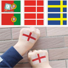 Hot sale Environmental Tattoo Stickers European Cup Face Flag Tatoo Of England Portugal Denmark Sweden Tattoos