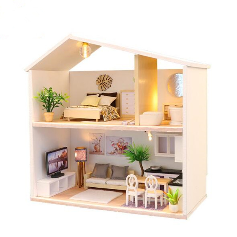Toys & Hobbies Handmade Furniture Doll House Diy Miniature Doll House 3d Wooden Dollhouse Miniatures Toys For Christmas And Birthday Gift V5
