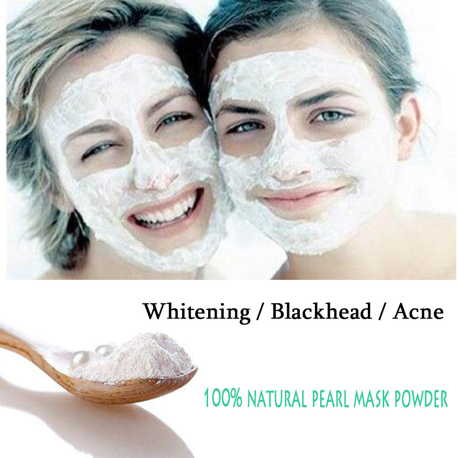 Natural Medicinal Pearl Mask Powder,Remove Scar Blemish Whitening, Acne Treatment, Anti Aging Wrinkle Can Eate