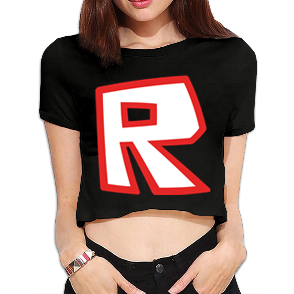 Black t shirt roblox - 2017 Rushed Promotion Fashion O Neck Letter Unicorn Tumblr Women Bare Midriff Tops Roblox R