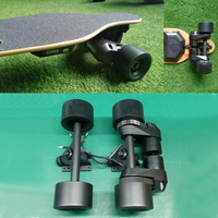 """Electric Longboard Drive Kit 83MM 90MM Wheel 7""""Trucks CNC Mounts Double Drive Scooter Hub Motor Kit for Electric Skateboard