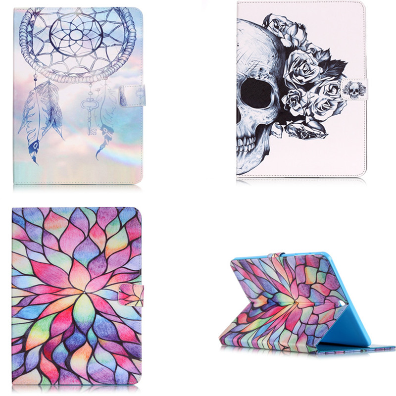 YB Fashion Skull Flower Pu leather stand holder Case For Samsung Galaxy Tab S2 9.7 SM-T819 T813 T815 T810 Cover with Card Holder аккумулятор yoobao yb 6014 10400mah green