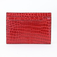 Real Crocodile Card Holder Men Women Pebble Pattern luxurious Genuine Leather Credit Card Case ID Card Holder Wallet Purse Pouch
