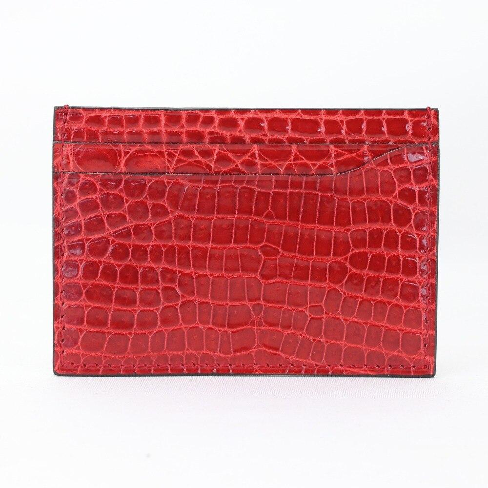 Véritable Crocodile porte-carte hommes femmes motif de galets luxueux en cuir véritable étui pour cartes de crédit ID portefeuille porte-cartes sac à main pochette