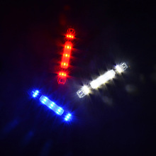 2017 New 5 LED Rear Safety Warning Bike Light Bicycle Night Cycling Tail Light USB Rechargeable Red Bike Accessories