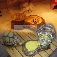 Reptielen Amfibieën Aquatic Dierbenodigdheden Automatische Feed Water Huisdier schildpadden hagedis Drinken Fonteinen Water Feeder Kom
