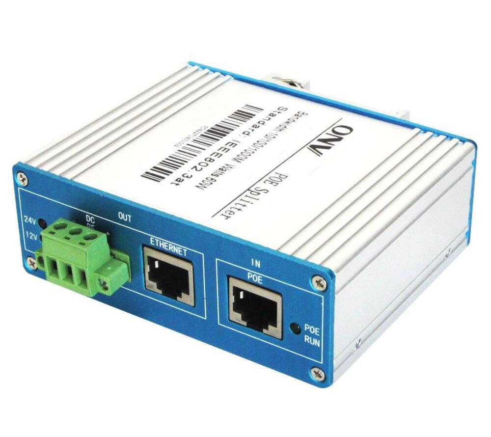 цена на Single Port Gigabit PoE Splitter with 2x 10/100/1000M RJ45 Ports. Each PoE Port Power is 60W
