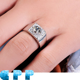 Queen Brilliance 1CT Luxury Quality Mens Engagement Ring Rings