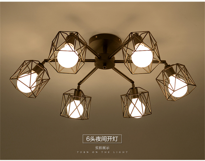 Slaapkamer Lamp Zwart : Jw vintage plafond verlichting voor bar plafondlamp zwart