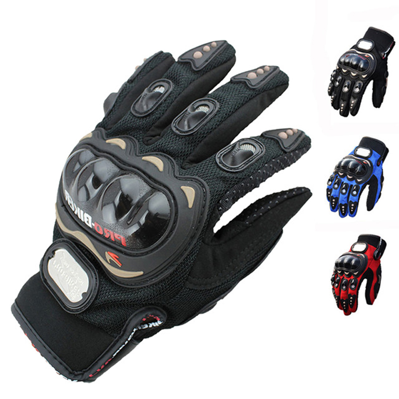 Mode unisex motorcykel handsker udendørs sport fuld finger ridder ridning motorcykel åndbar mesh stoff racing cykling handsker
