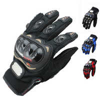 Fashion Unisex Motorcycle Gloves Outdoor Sports Full Finger Knight Riding Motorbike Breathable Mesh Fabric Racing Cycling Gloves