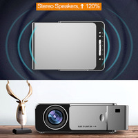 HOT LED HD Projector HDMI USB 1080P Bluetooth WIFI Beamer Home Theater Projector BUS66