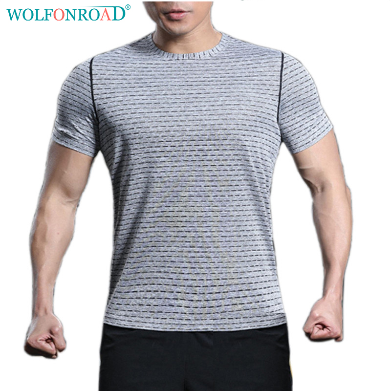 9aa00e8ae1ea9 WOLFONROAD Men s Quick Dry T Shirts Camping Running T shirts Summer  Reflective Thin Sport Tee shirts Plus Size Tops L QZPL 007 1-in Running  T-Shirts ...