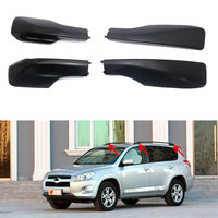 Fit For Toyota RAV4 2001 2015 4pcs ABS Plastic Roof Rack Rail With Screws Roof Luggage Carriers Baggage Cover Black Accessories