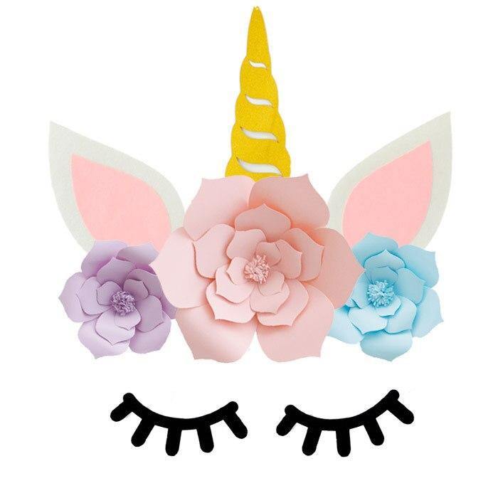 FFS Tema de unicornio y papel serie de flores de postre attire fondo de bricolaje boda fiesta niños decoración de la habitación de cumpleaños Decoraciones DIY de fiestas    - AliExpress