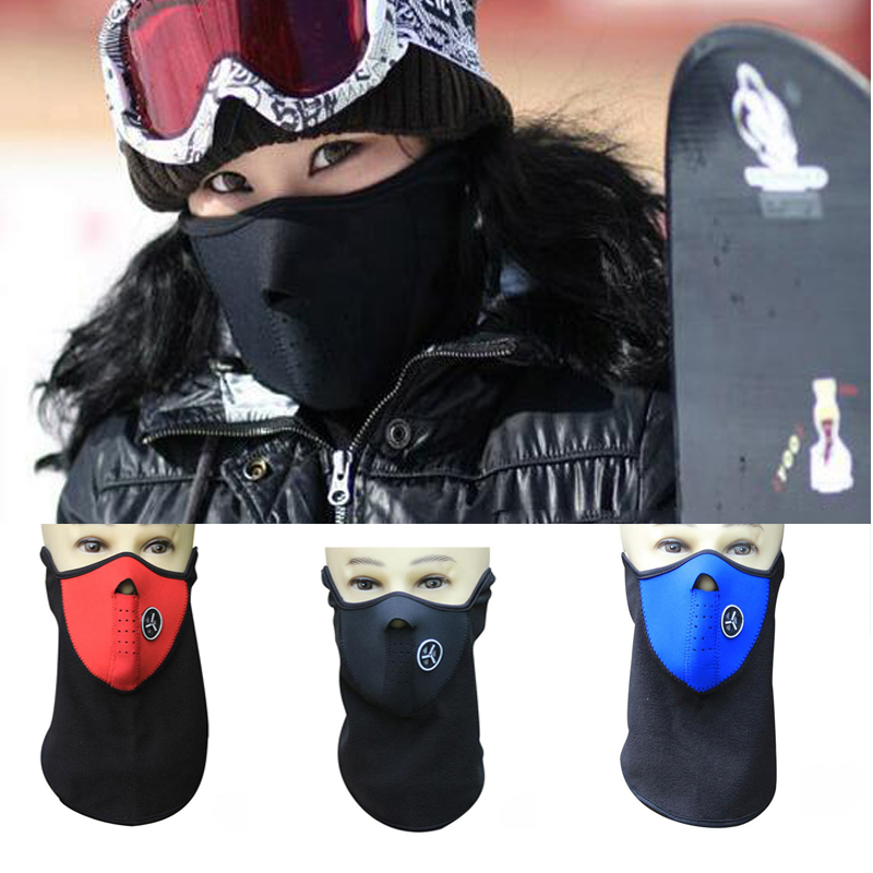 Fashion Dust Face Mask Black Winter Windproof Warm Neck Guard Warm Face Mouth Mask Men Women Protection Bicycle Snowboard fashion novelty women s men s winter warm black full face cover three holes mask beanie hat cap hot sale cai0328