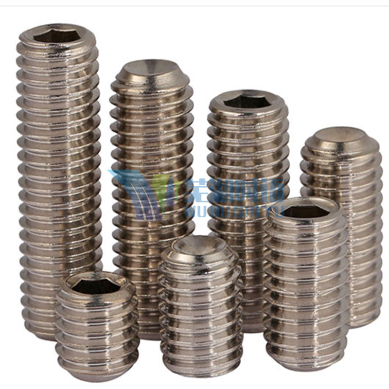 купить (50 pc/lot) M4,M5,M6 *L SUS304 DIN916 stainless steel hex socket cup point set  grub screw дешево