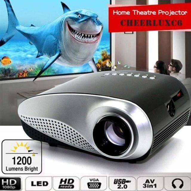 Película HD 1080 P AV HDMI Inicio Cine Teatro Multimedia LED Proyector Negro UE proyector hdmi usb proyector APE