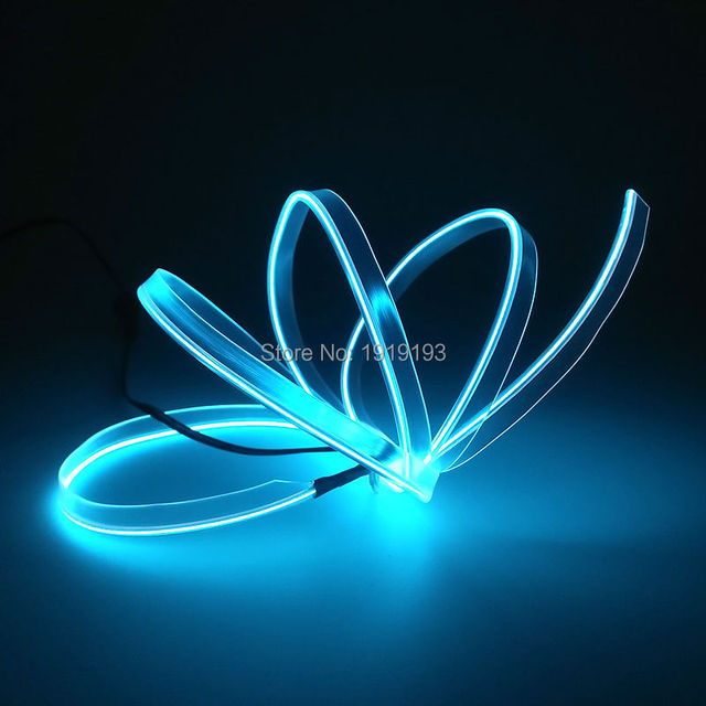 2.3mm Skirt 3Meters Flexible EL wire glowing Neon Led light Neon LED ...