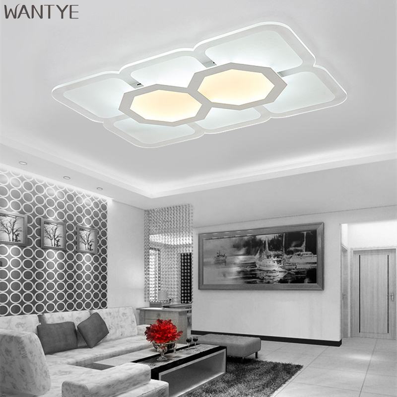 Surface mounted LED Ceiling light luminaria Ceiling Modern LED Acrylic lamp fixture Remote control lighting for Living room