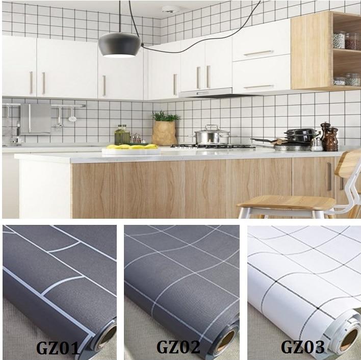 Wandaufkleber Küche Bad Wasserdicht Selbstklebende Tapete Weiß Fliesen  Aufkleber Für Wände Aufkleber Dekoration
