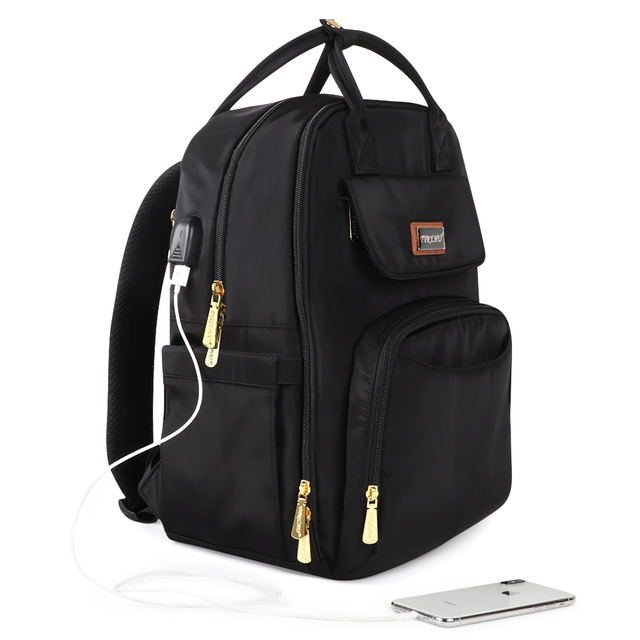 USB Charging Diaper Bag For Fashion Mummy MuLtifunction Maternity Backpack With Double Hook For Stroller Fast Shipping | Happy Baby Mama