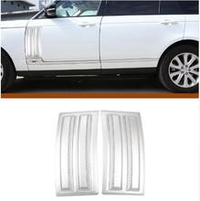 For Land Rover Range Vogue SVO 2014-2018 ABS Matte Chrome Car Side Door Air Vents Kit Trim Accessories 2pcs