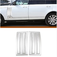 цена на For Land Rover Range Rover Vogue SVO 2014-2018 ABS Matte Chrome Car Side Door Air Vents Kit Trim Accessories 2pcs