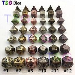 جودة عالية جديد معدني 7 مجموعة نرد d4 d6 d8 d10 d % d12 d20 مجلس ألعاب Rpg دادوس جوجوس dnd للرجل هدية خاصة
