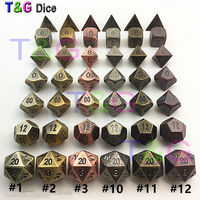 TOP Quality 2015 New Metalic 7 Dice Set D4 D6 D8 D10 D D12 D20 For