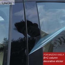 Зеркальное отражение панель B + C Колонка Декоративные наклейки для Mazda 3 Axela 2014 2016 2017 10 шт./компл.