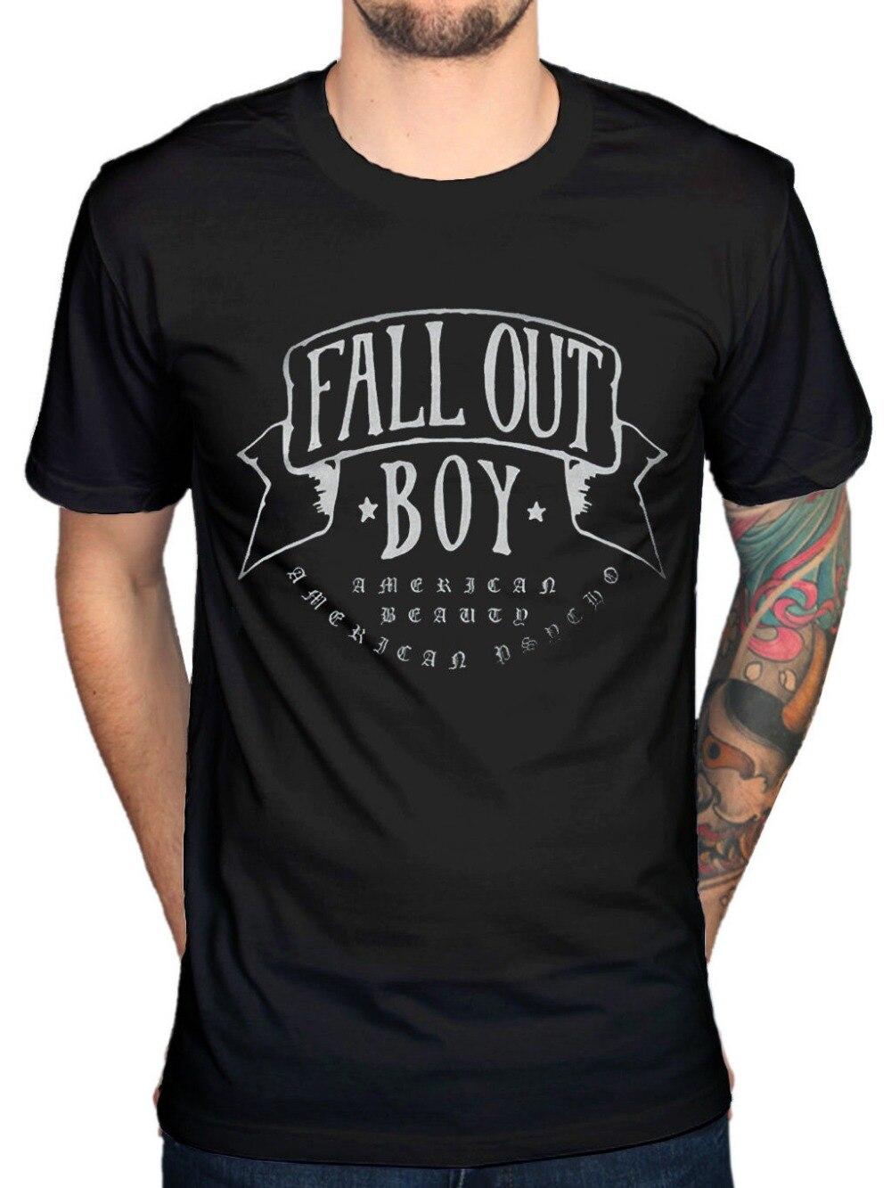 2018 Summer Casual Man T Shirt Official Fall Out Boy American Beauty T-Shirt Rock Band Centuries Merchandise