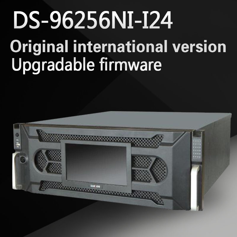 Free shipping English version DS-96256NI-I24 super 4K NVR 256CH with 24 SATA Support HDD hot swap with RAID H.265