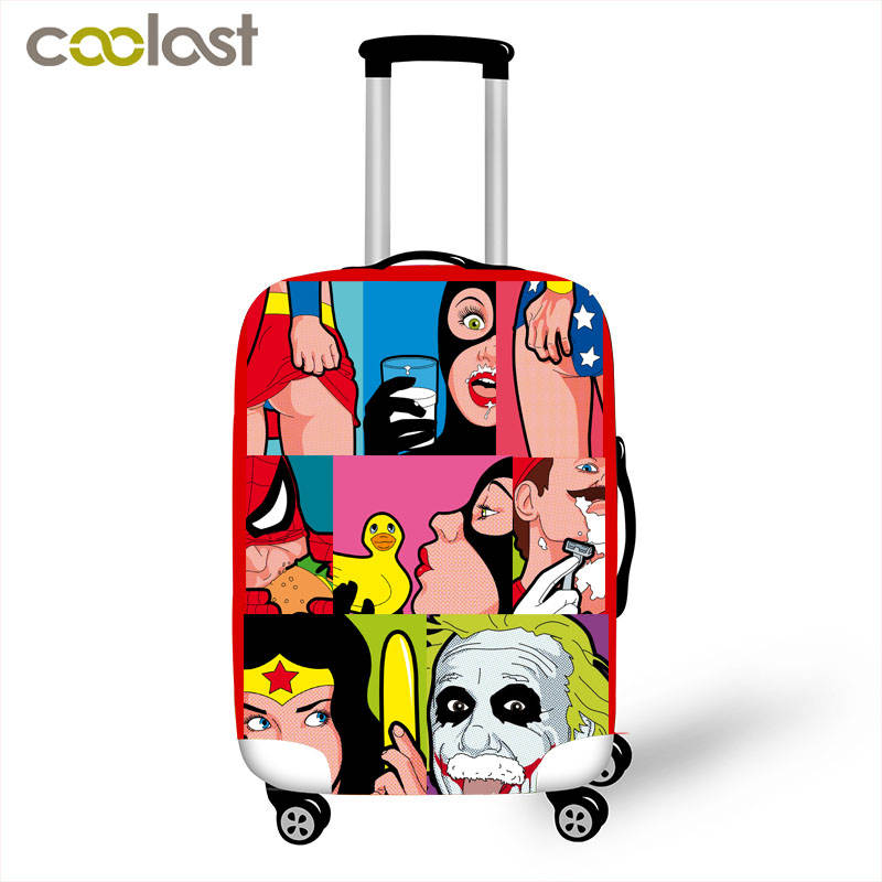 Cool Sexy Girl Luggage Covers Spoof Anime Women Travel Suitcase Cover Elastic Luggage Trolley Case Protective Cover For 18-32