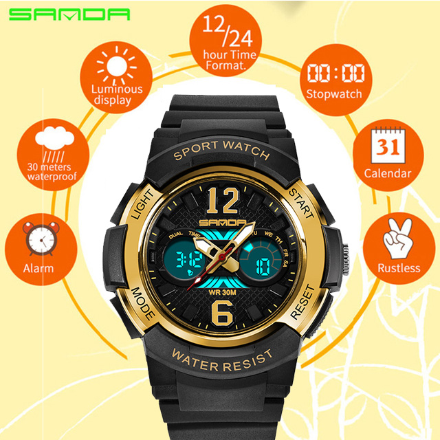 Children's Watches LED Digital Watches Boys and Girls Students Multifunctional Waterproof Electronic Watch Relogio Masculino 757