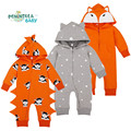 Cute Cartoon Baby Rompers Long Sleeve Hooded Jumpsuits Cotton Overalls Newborn Infant Coverall Spring Newborn Infant Romper