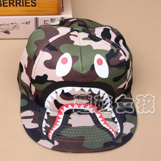 bape hats 2015 shark eyes printing boy girl baby baseball caps hip hop  Kawaii fashion bape caps 77393d18b85e