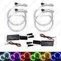 4 Pçs/set 6-Color Carro CCFL Anéis de Halo Angel Eyes Faróis para BMW E46, E36, E39, E318A04 Luz Kits # J-4170