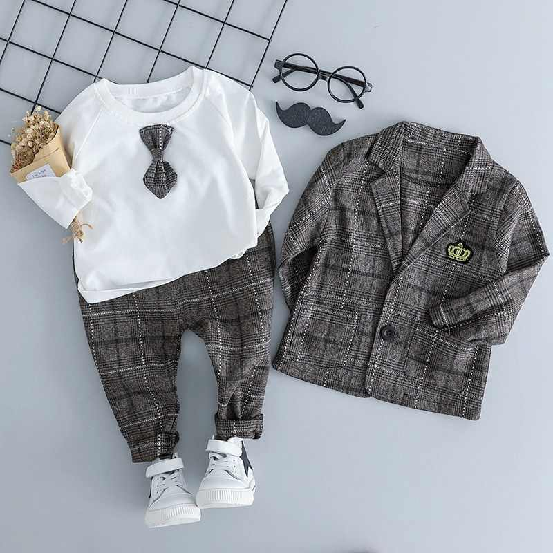 Kids Boys dress 3Pcs Formal Suits Blazers Sets Clear Gentleman for wedding Baby Boys Suit Tops Shirt  Pant Coats Set