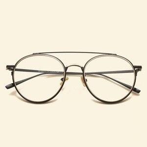 Image 3 - Gafas femeninas marca NOSSA con marco grande Retro marcos de Metal para anteojos para hombre y mujer, montura óptica para miopía, lentes transparentes, gafas casuales para estudiantes