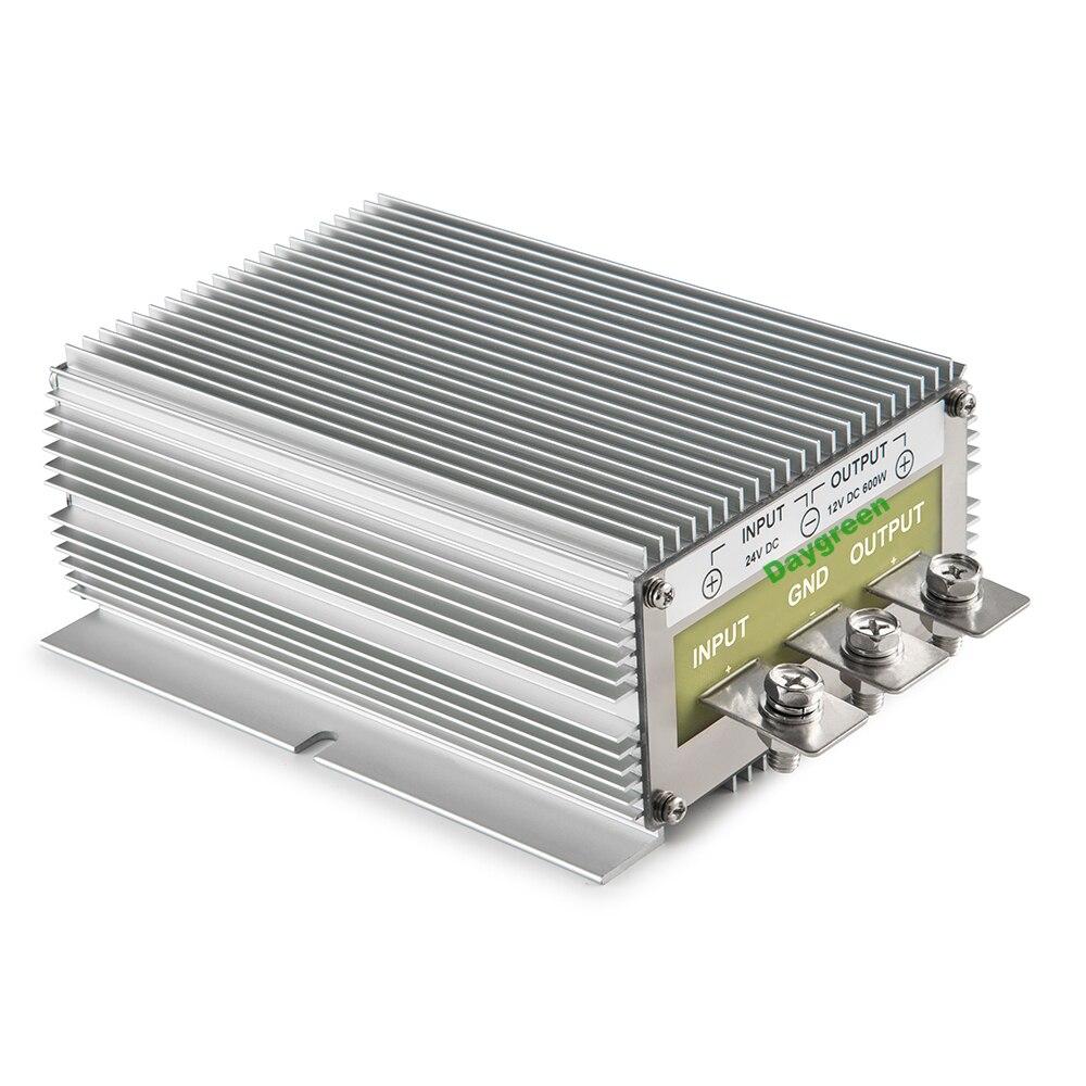 Free Shipping 24V to 12V 50A 600W DC DC Converter Regulator Car Step Down Reducer Daygreen 24V to 12V 50AMP free shipping l78s12cv l78s12 to 220ab regulator original product