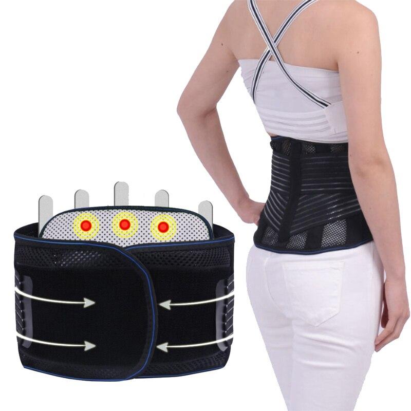 Sport Accessories Waist Belt Self heating Belts Steel Plate Lumbar Lower Waist Double Adjust Back Pain Relief Waist Support