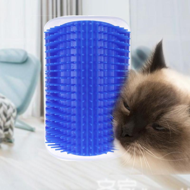 Pet Comb Removable Cat Corner Scratcher Scratching Rubbing Brush Pet Hair Removal Massage Comb Pet Grooming Cats Supplies