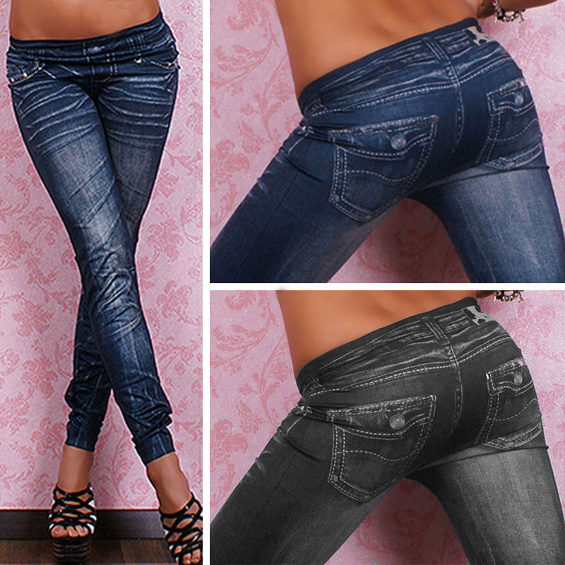 New Arrival Denim Jeans Look Sexy Skinny Leggings Jeggings Stretch Pants Trousers
