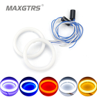 2x Cotton Light Angel Eye LED DRL Car Motorcycle Fog Light Halo Rings Waterproof Auto Headlight Turning Signal With Lampshades