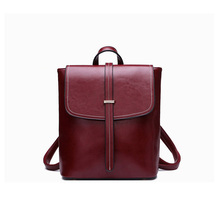 Европейский и Американский кожаный мешок дамы ретро рюкзак большой емкости студент рюкзак
