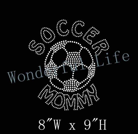 Free shipping Soccer Mommy Rhinestone Transfer Iron On DIY Bling-in  Rhinestones from Home   Garden on Aliexpress.com  9a5bacc1557b