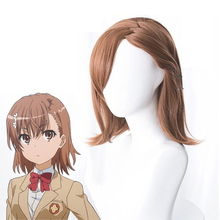 Mikoto Misaka Cosplay Wig Certain Magical Index III Brown Adult Synthetic Hair Anime