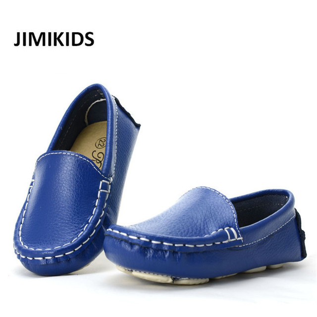 2b91dcc0367 2016 Genuine Leather Small Kids Shoes Moccasins Loafers Boy Shoes-in ...