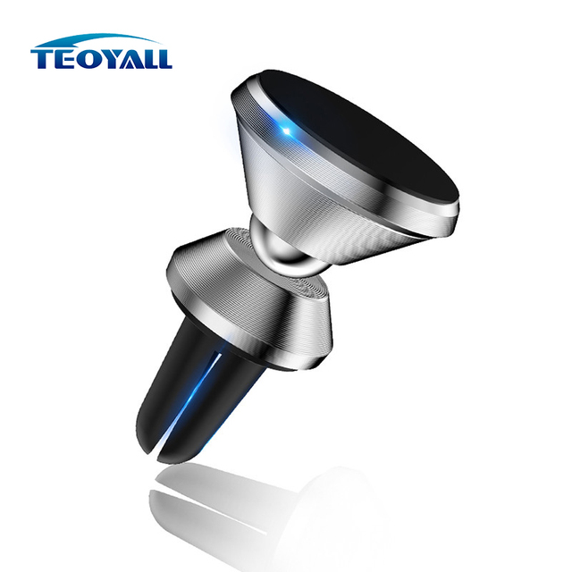 TeoYall Magnetic Universal Phone Holder for iPhone 8 7 6 X Air Vent Mount Car Holders 360 Degree Support Mobile Phone Car Stand